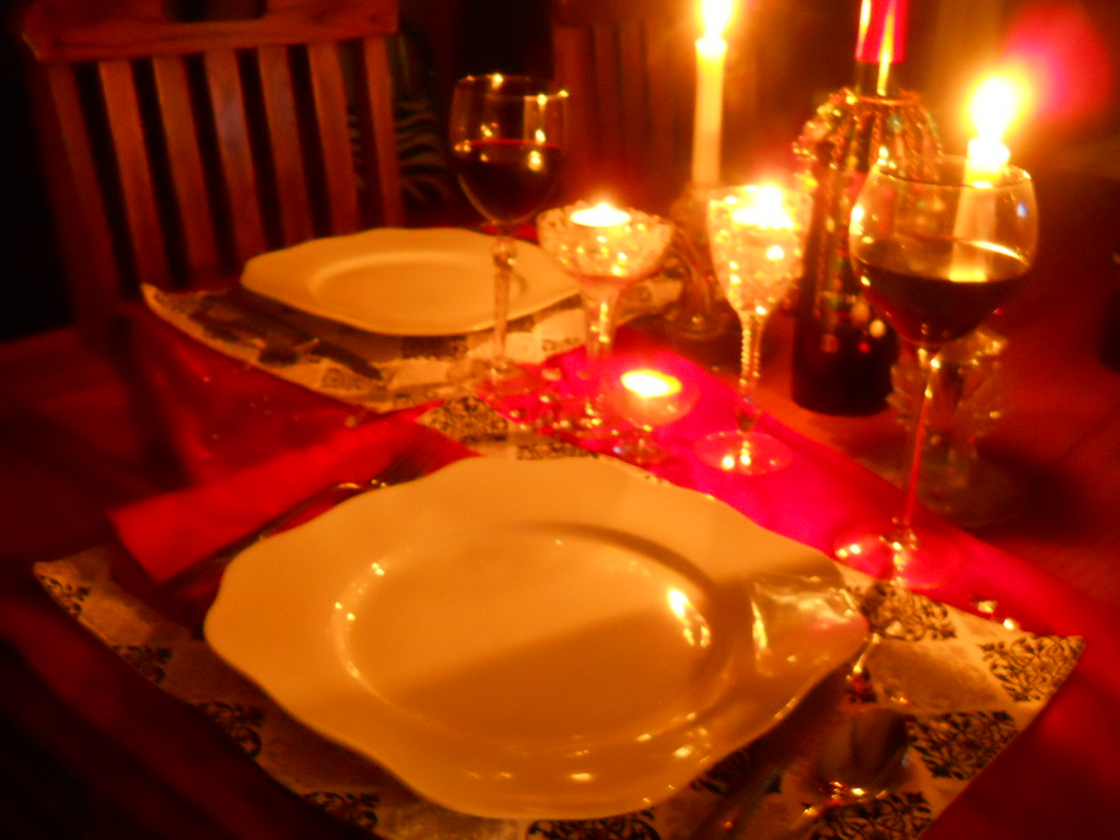 Tim and angie 39 s romantic dinner at home with tortellini Best candles for romantic night